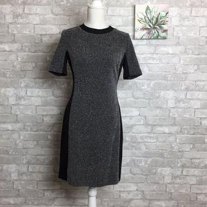 Halogen Panel Dress Black and Gray Size 8